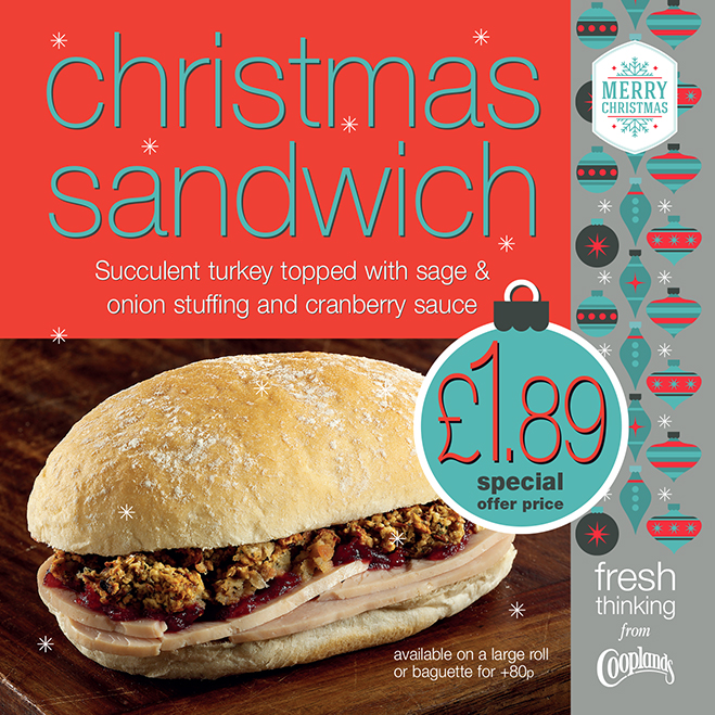 Get into the festive spirit by trying our Christmas sandwich