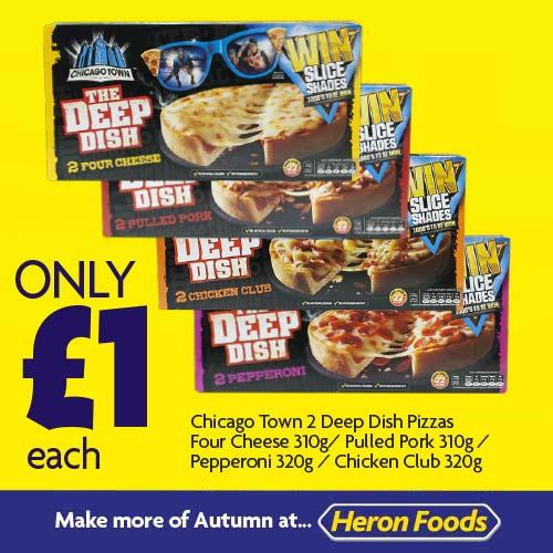 Chicago Town 2 Deep Dish Pizzas £1 each