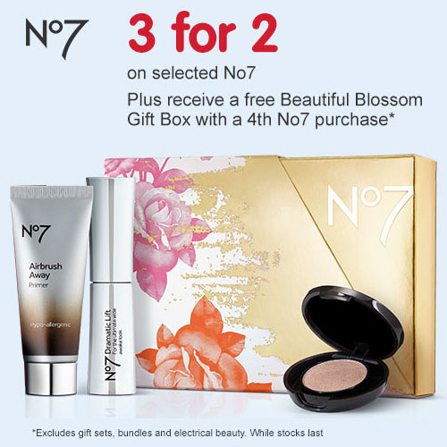 3 for 2 On Selected No7 Products