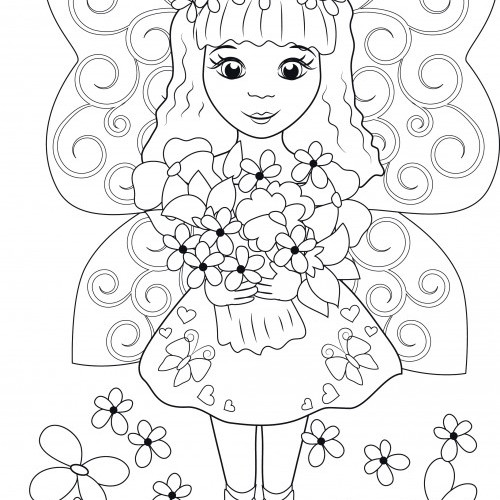 Colouring fairy
